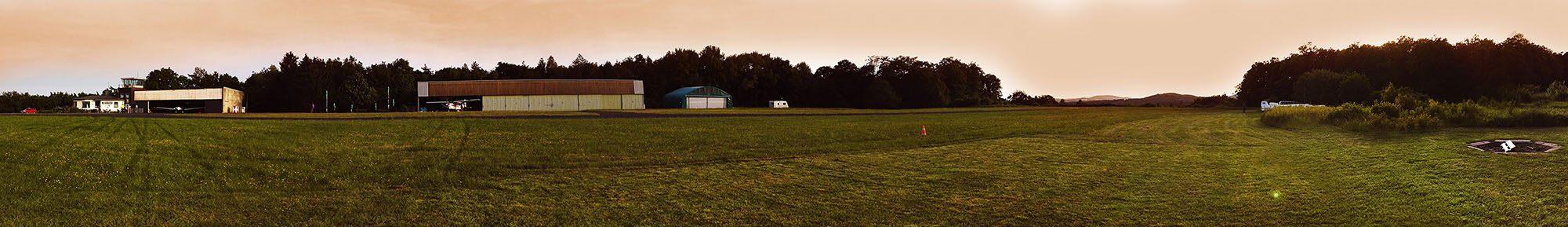 Headerbild: Panorama-Fotos unseres Grillfests am 21.05.2016 direkt am Flugplatz